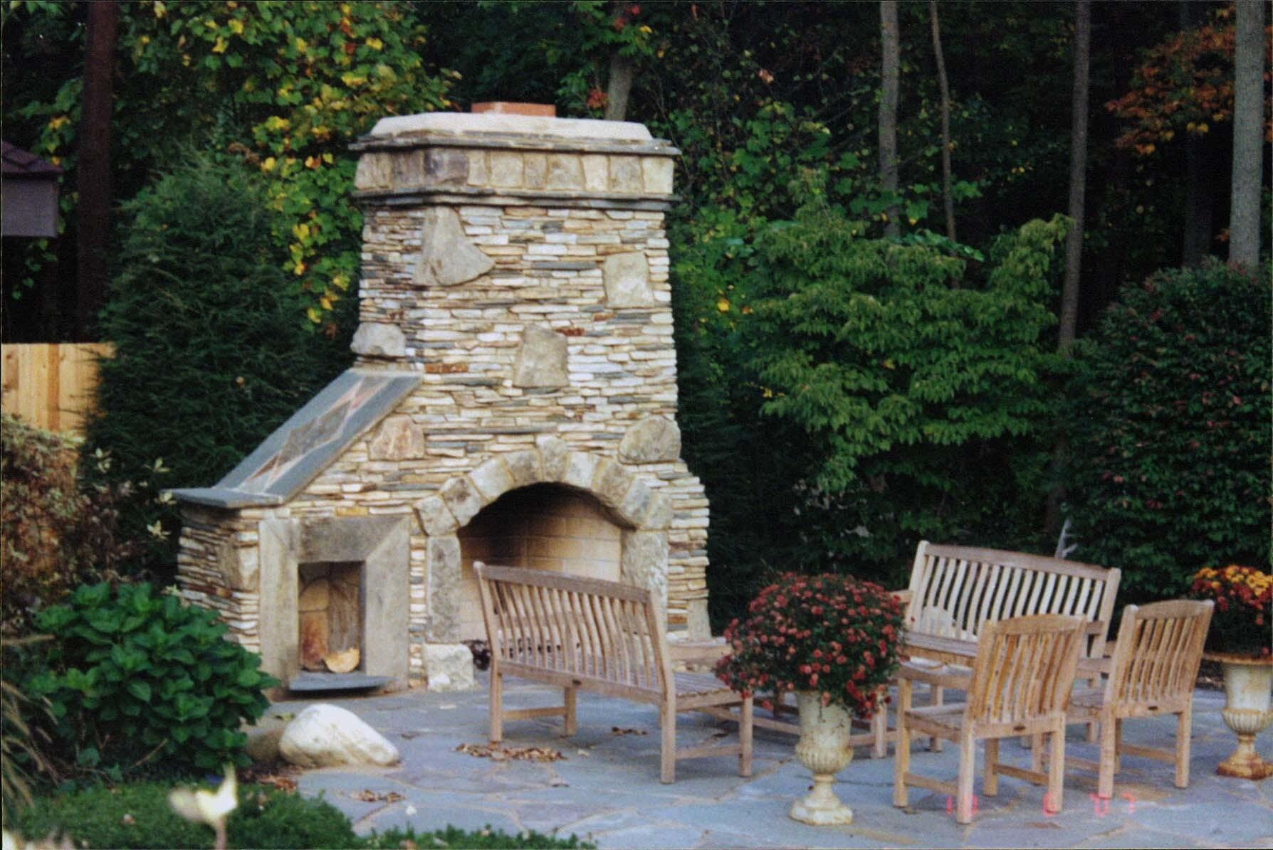 Outdoor Stone Fireplace Kits Unique