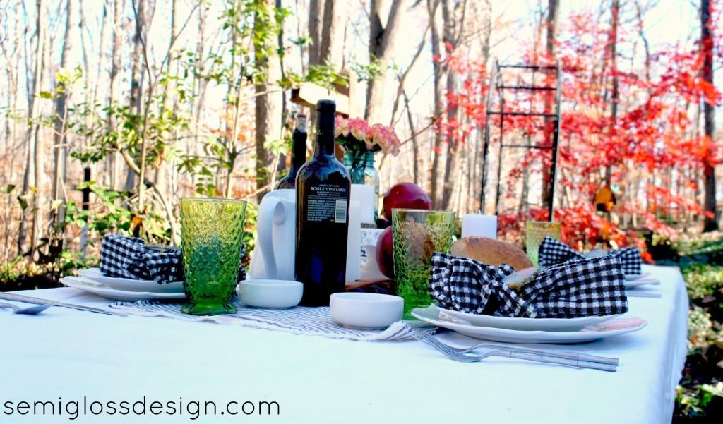Outdoor Thanksgiving Table Setting Semigloss Design