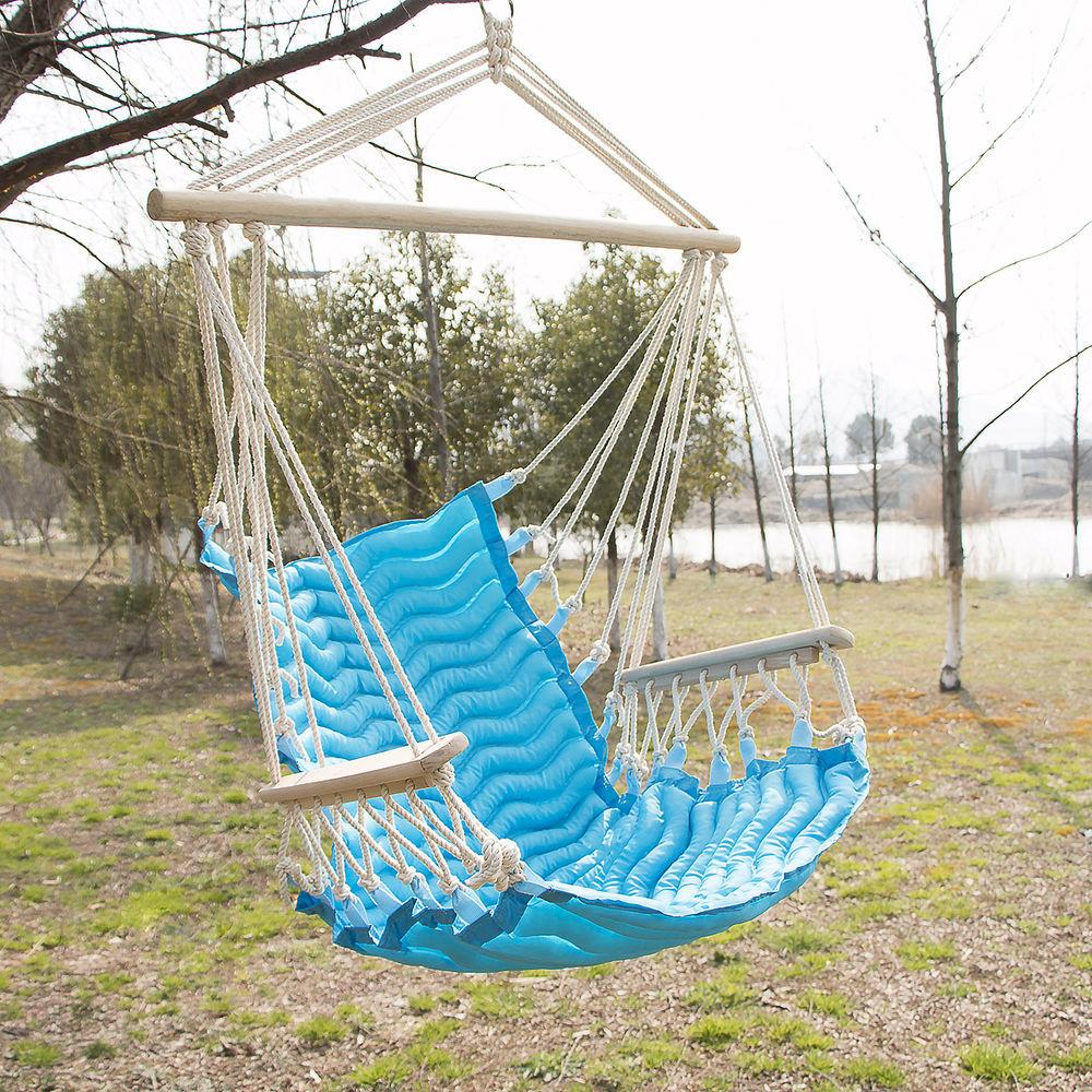 Outdoor Wave Hanging Hammock Rope Sky Swing Seat Polyester