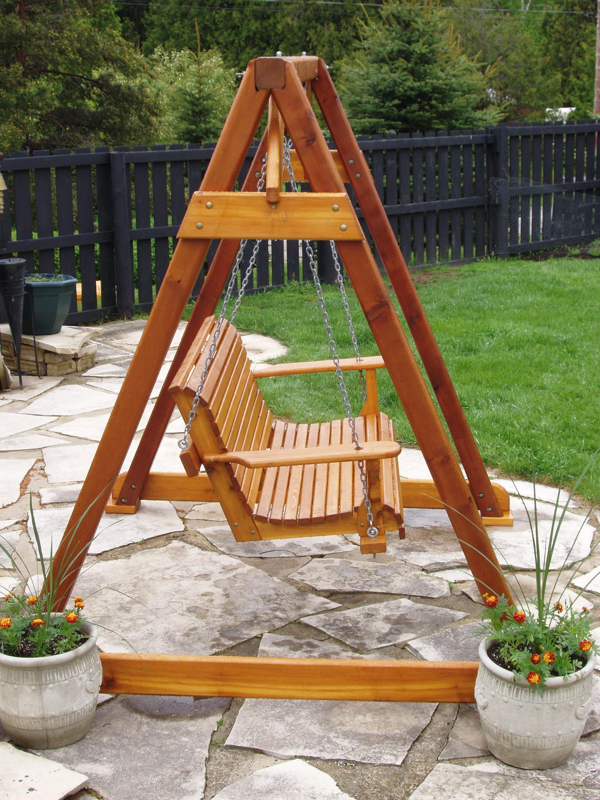 Outdoor Wooden Swing Plans Good Porch
