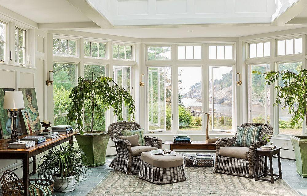 Outside Steals Show Beautiful Sunroom