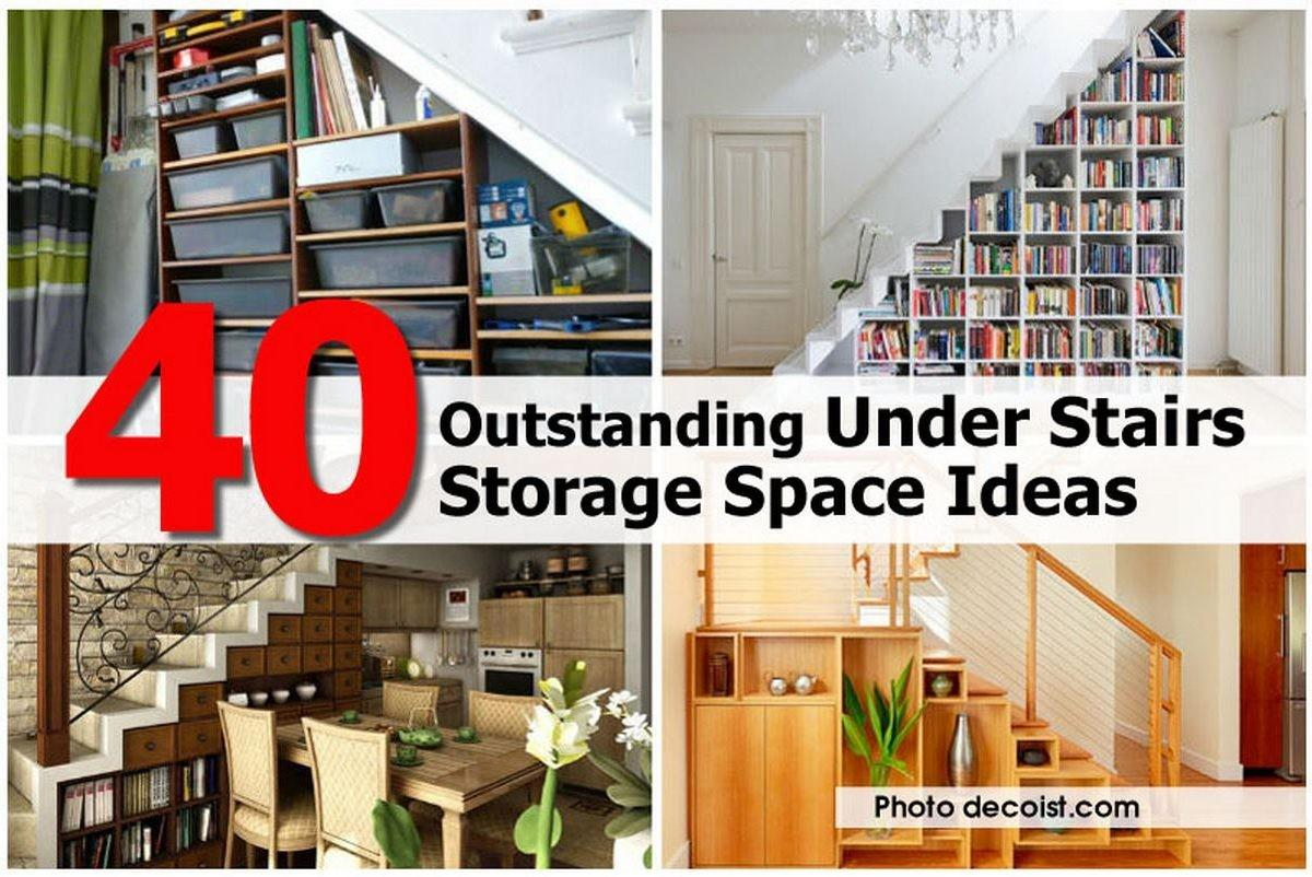 Outstanding Under Stairs Storage Space Ideas