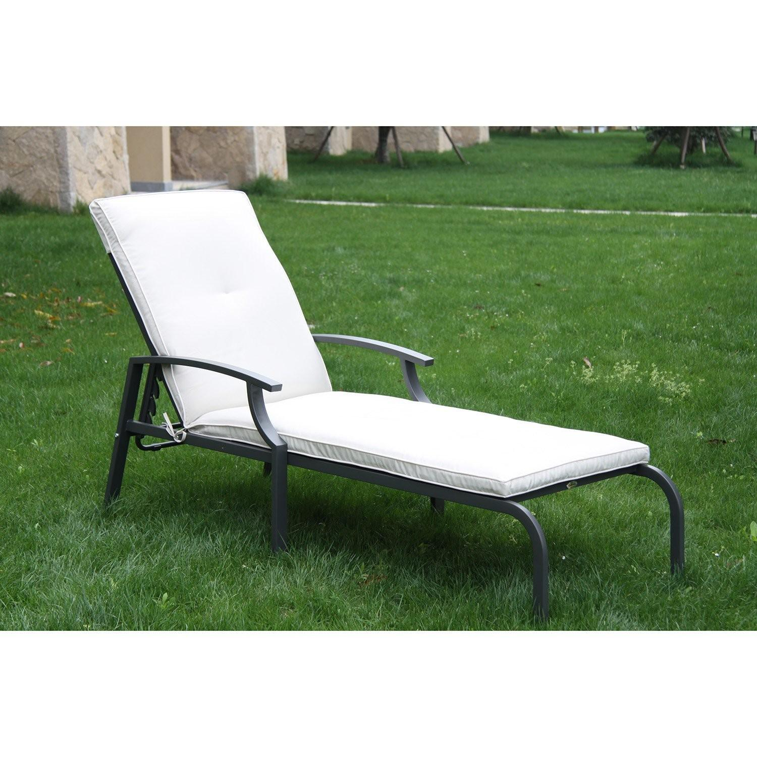 Outsunny Outdoor Lounge Chaise Chair Recliner Garden Patio