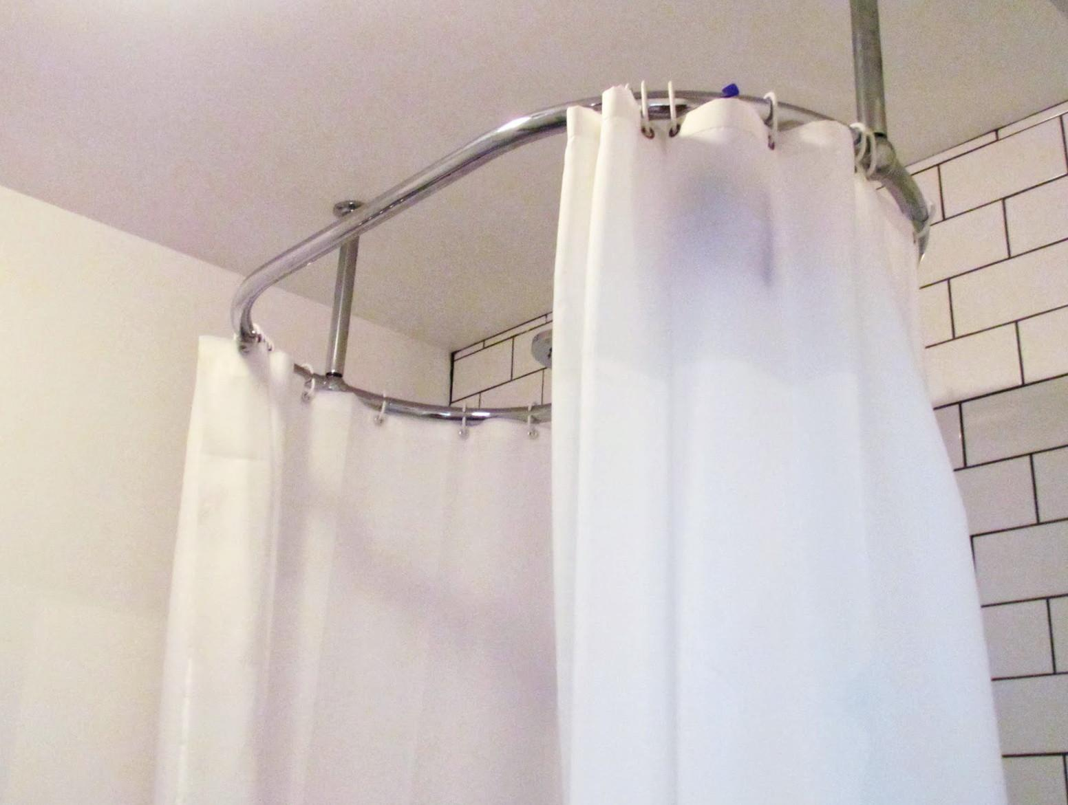 Oval Shower Curtain Rod Diy Home Design Ideas