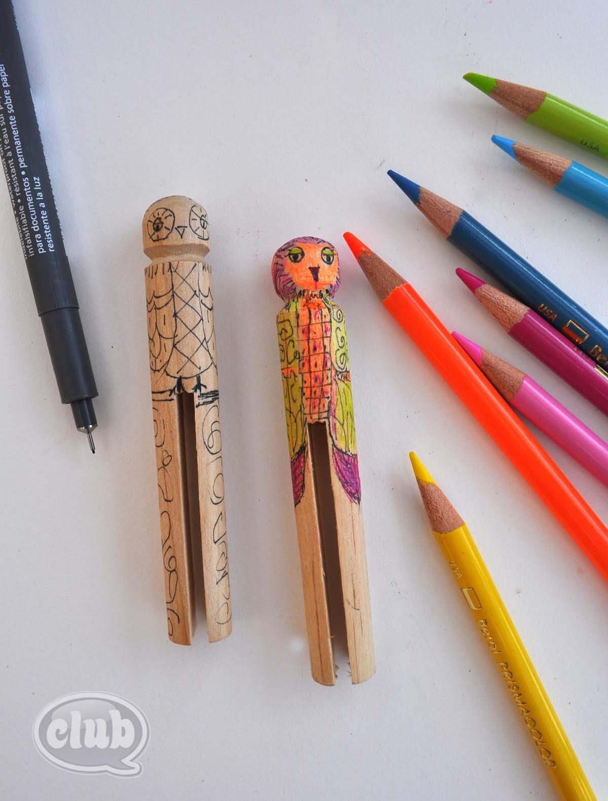 Owl Clothespin Buddy Craft Diy