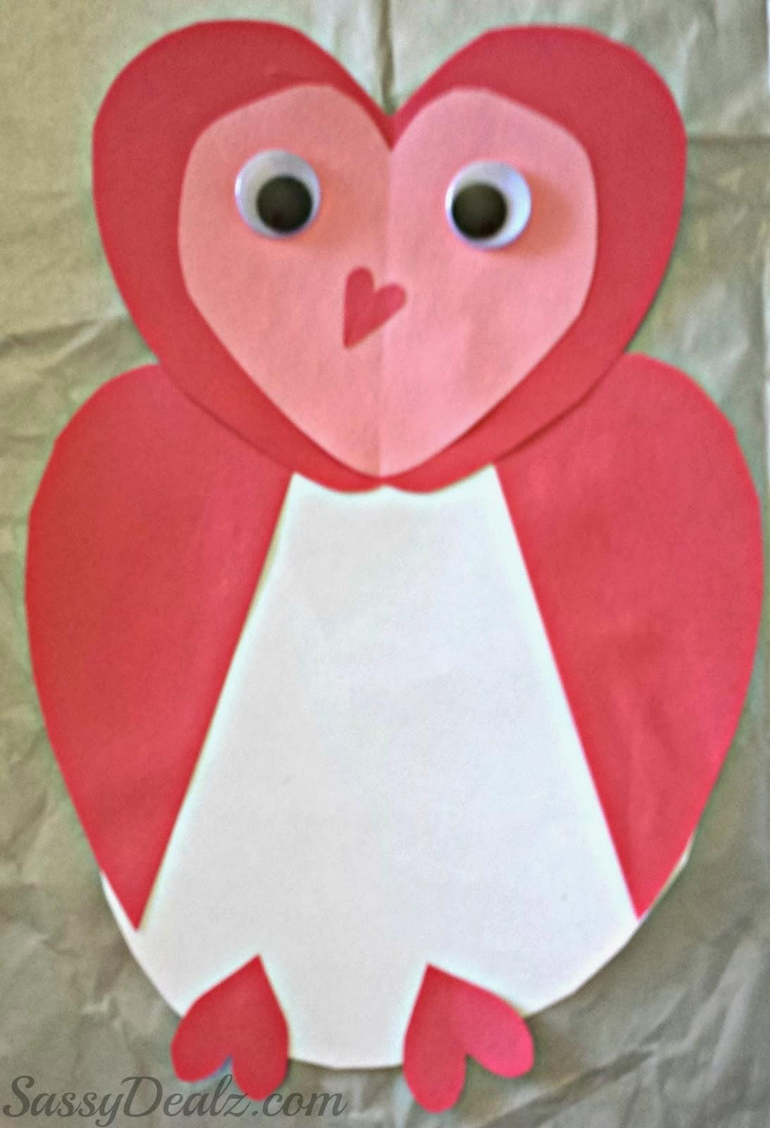Owl Valentines Day Card Idea Kids Crafty Morning