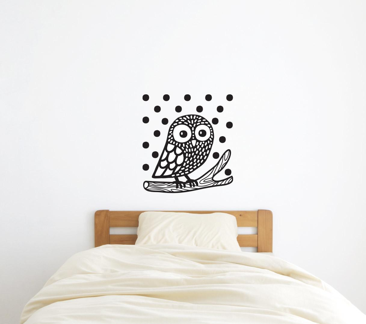 Owl Wall Decal Sticker Home Decor Wild