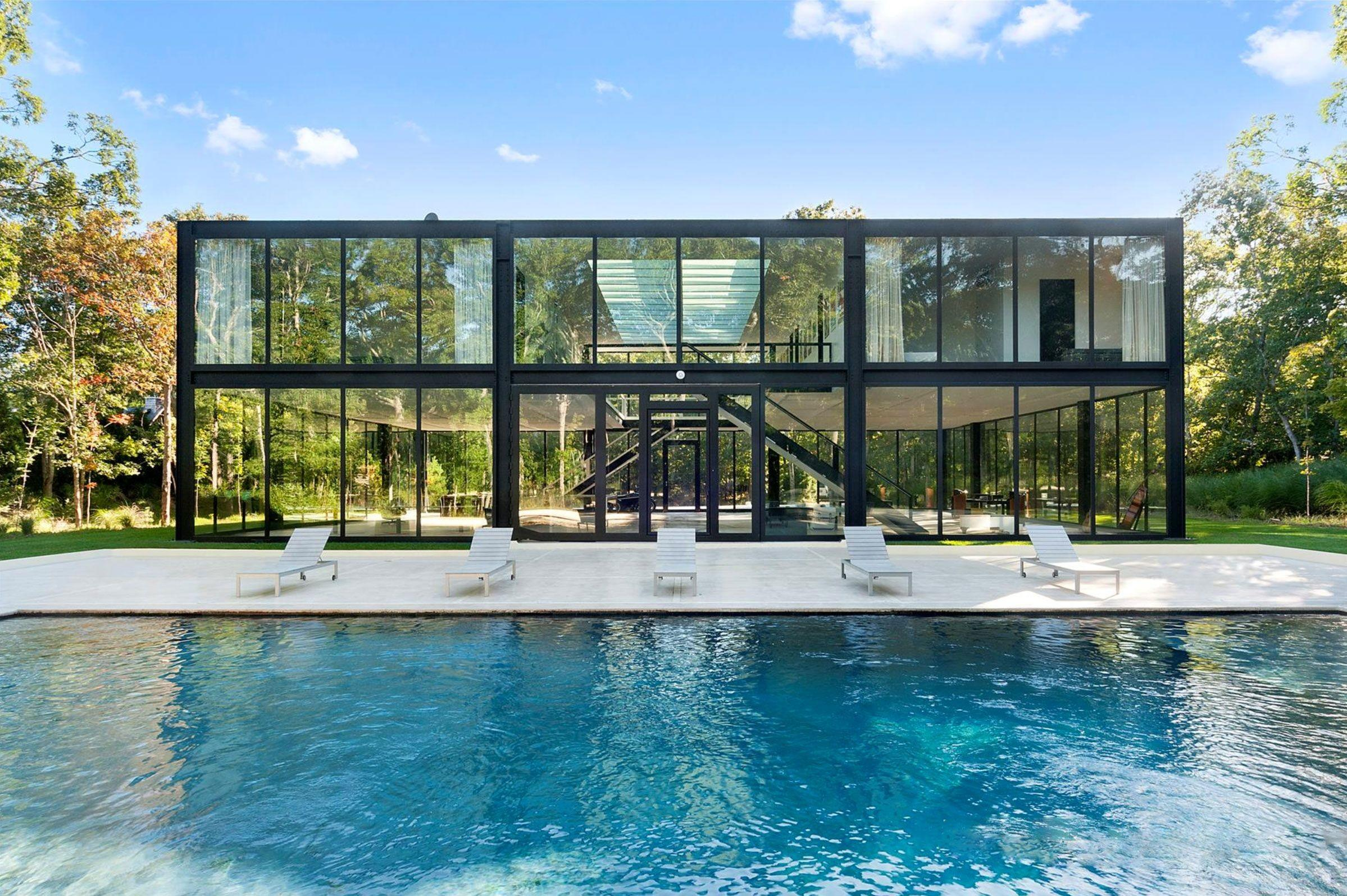 Own Glass Box Hamptons Home Designed One World Trade