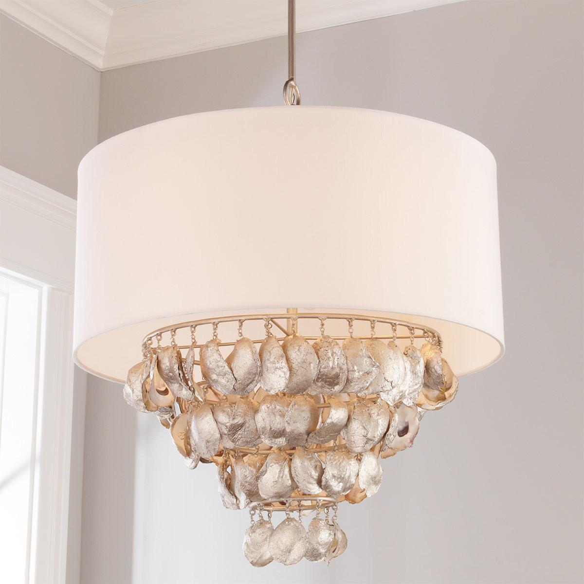 Oyster Shell Chandelier Shades Light