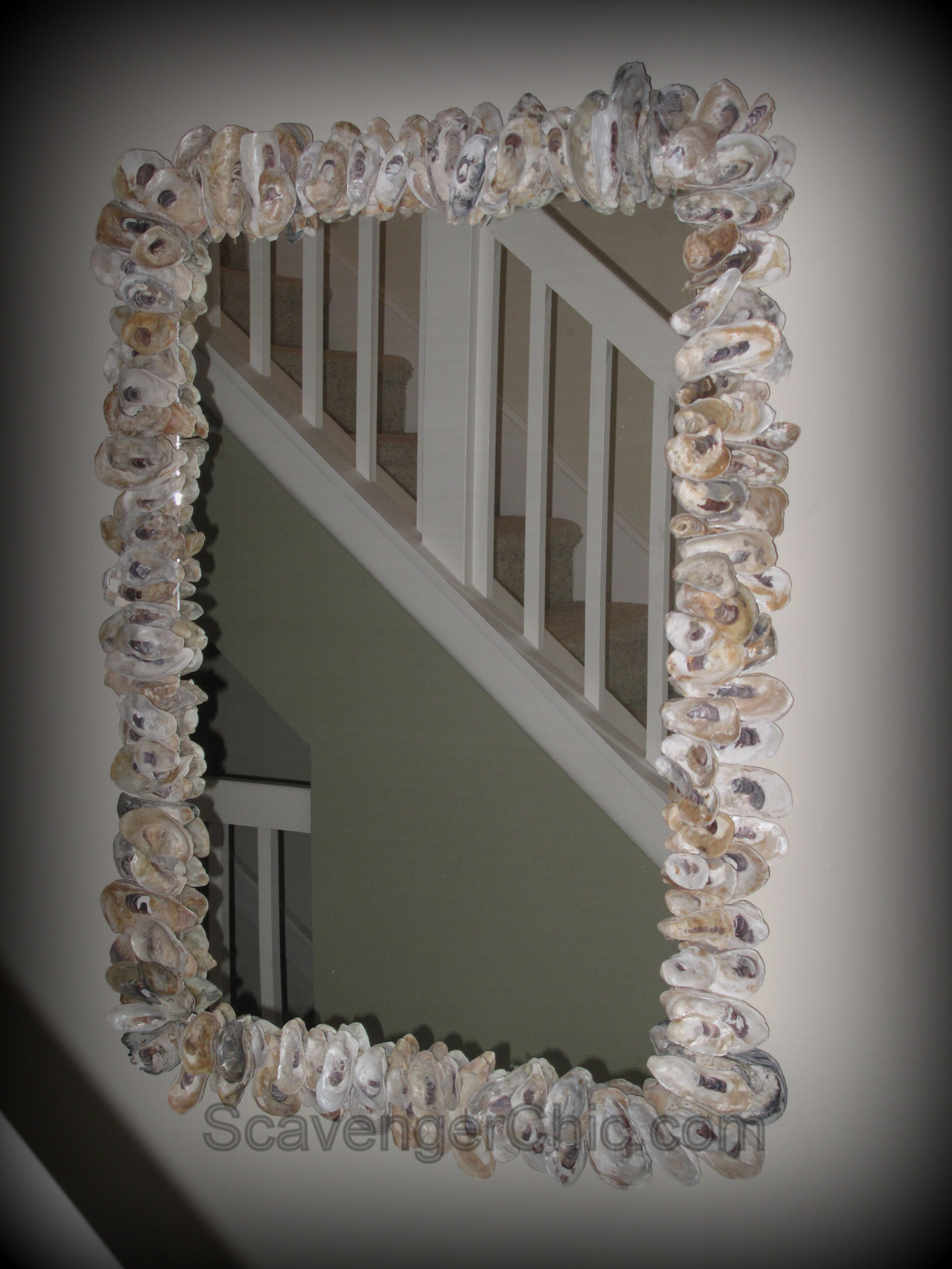Oyster Shell Mirror Diy Scavenger Chic
