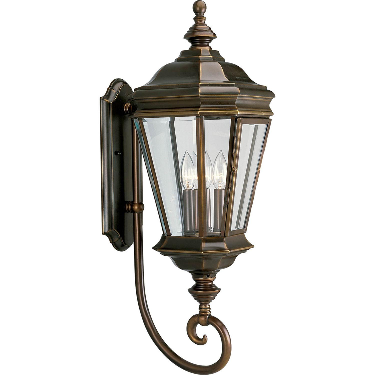 P5672 108 Crawford Oil Rubbed Bronze Three Light Outdoor