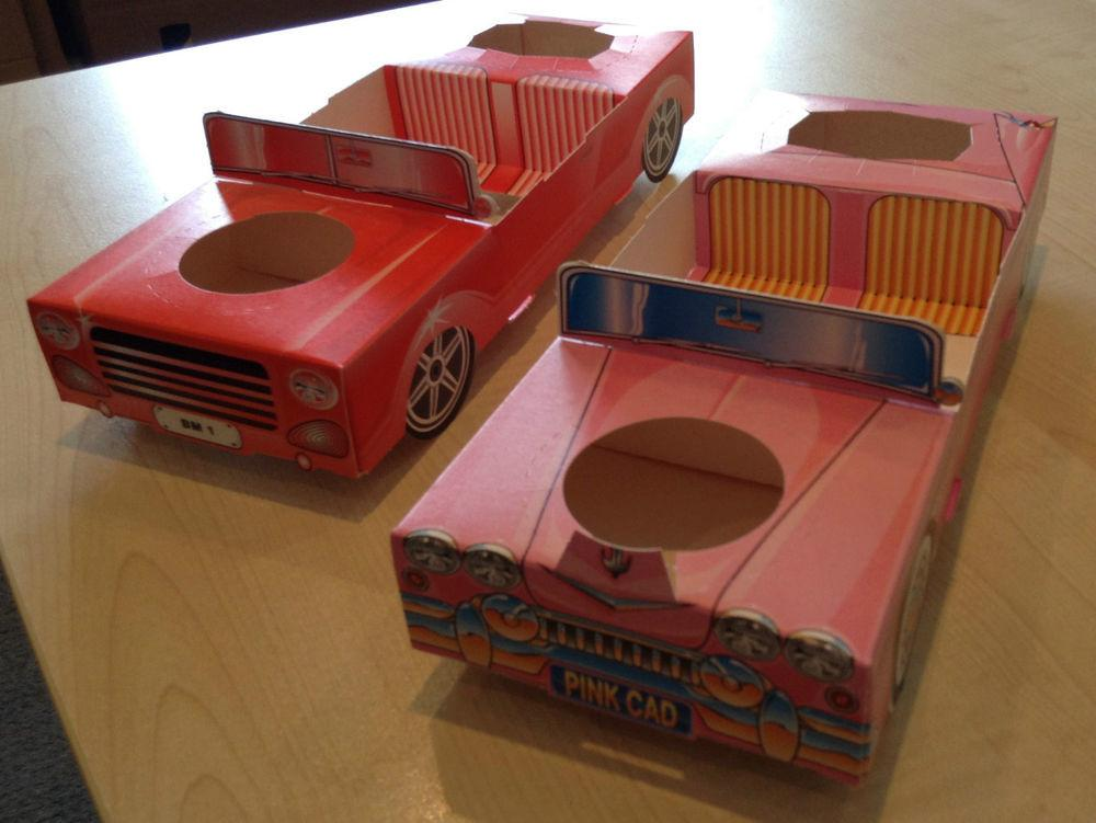 Pack Diy Cardboard Car Food Serving Tray