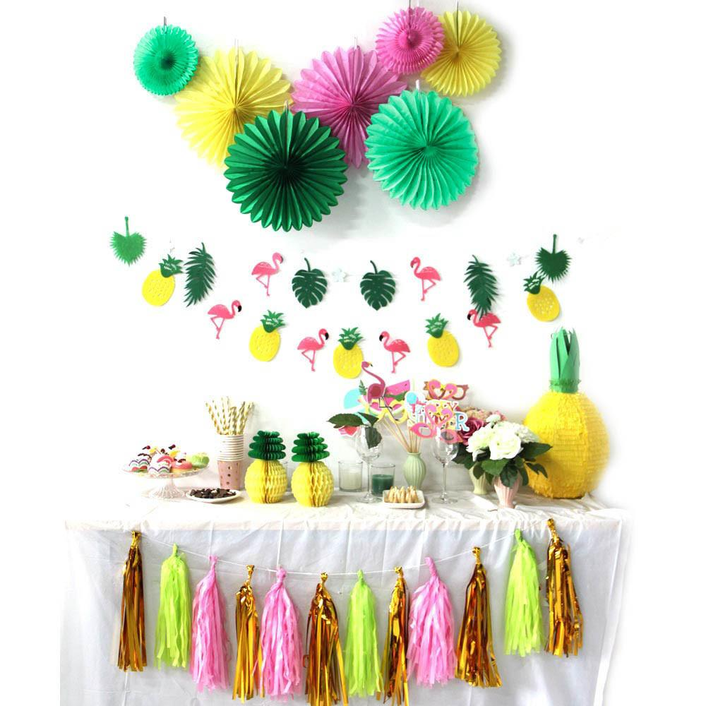 Pack Summer Party Decoration Kit Banners Pinweels