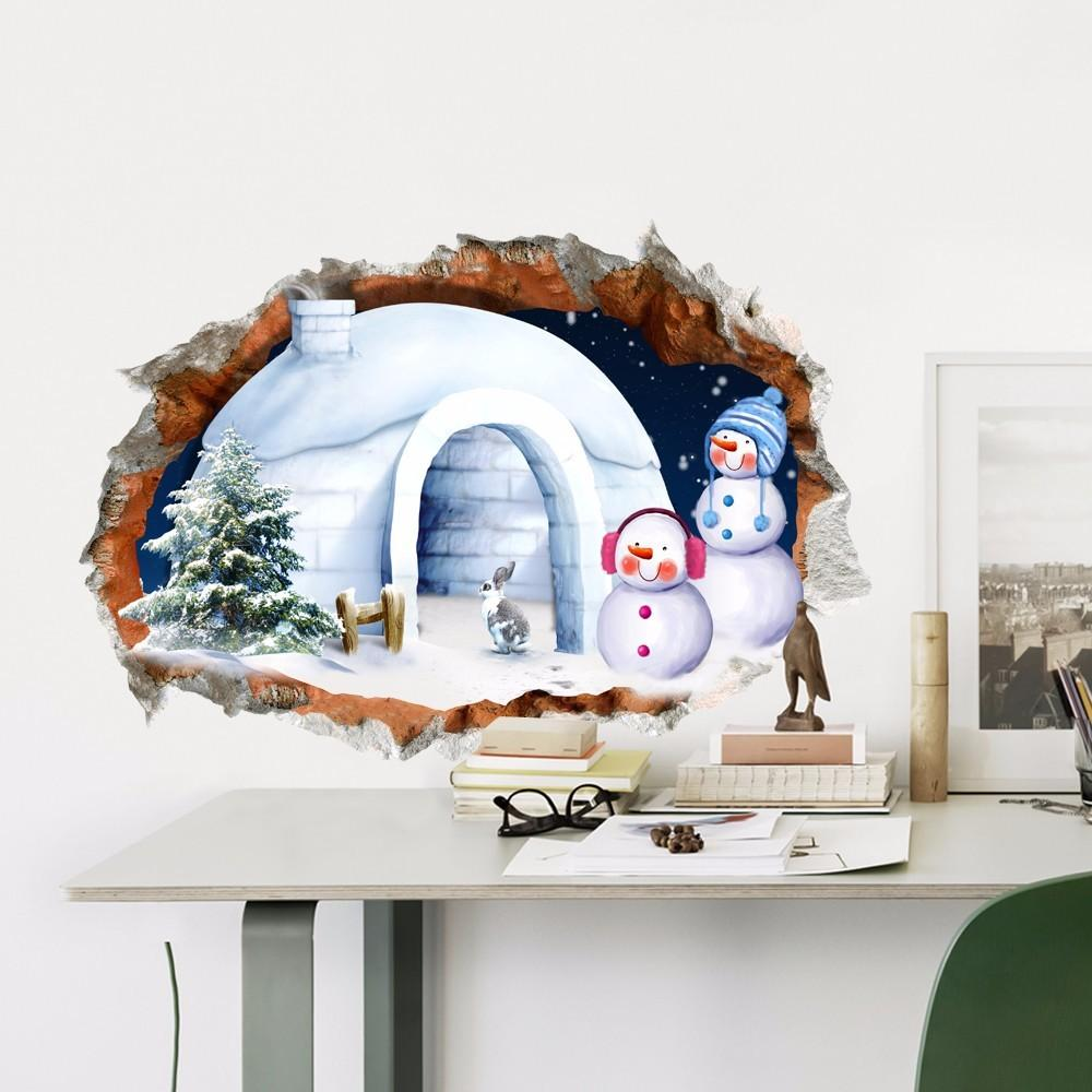 Pag Christmas Snowman House Sticker Wall Decals Home