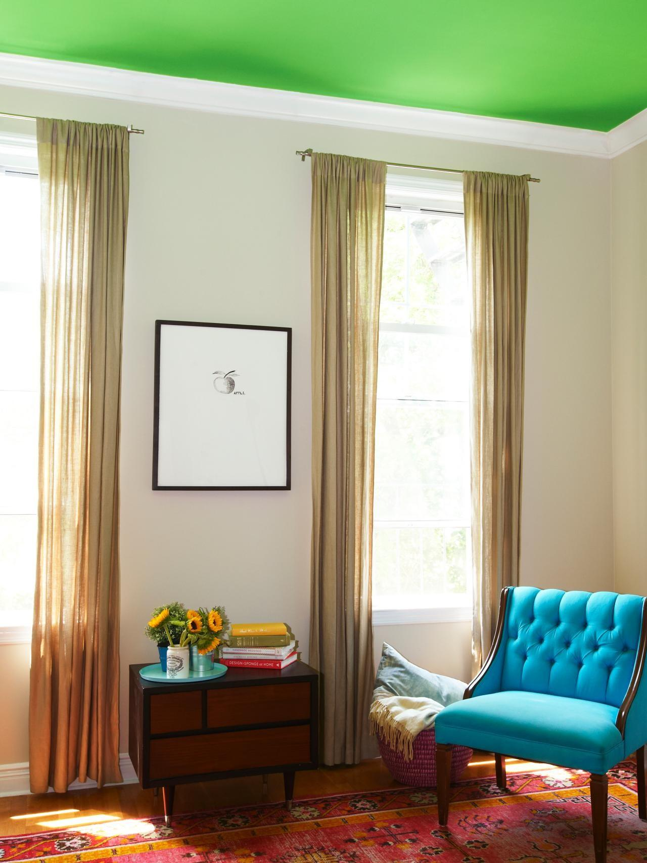 Paint Bold Color Your Ceiling Home Remodeling