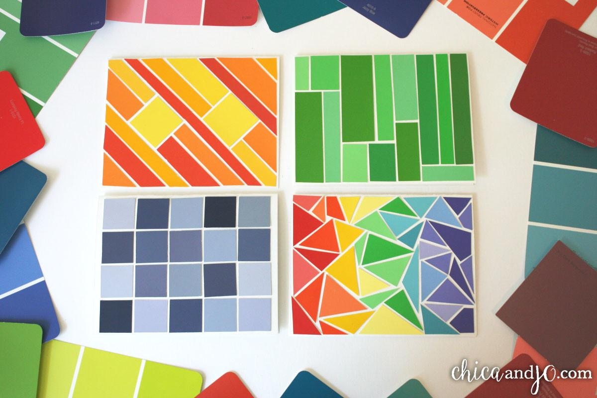 Paint Chip Greeting Cards Chica