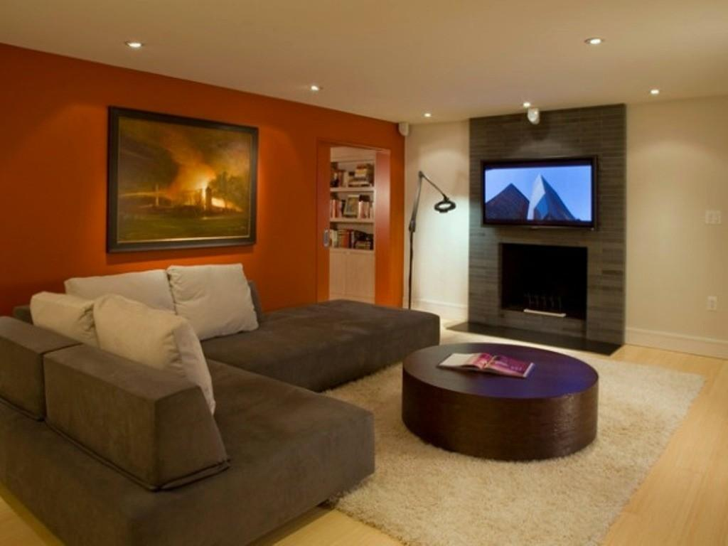 Paint Color Ideas Living Room Brown Couch 4197