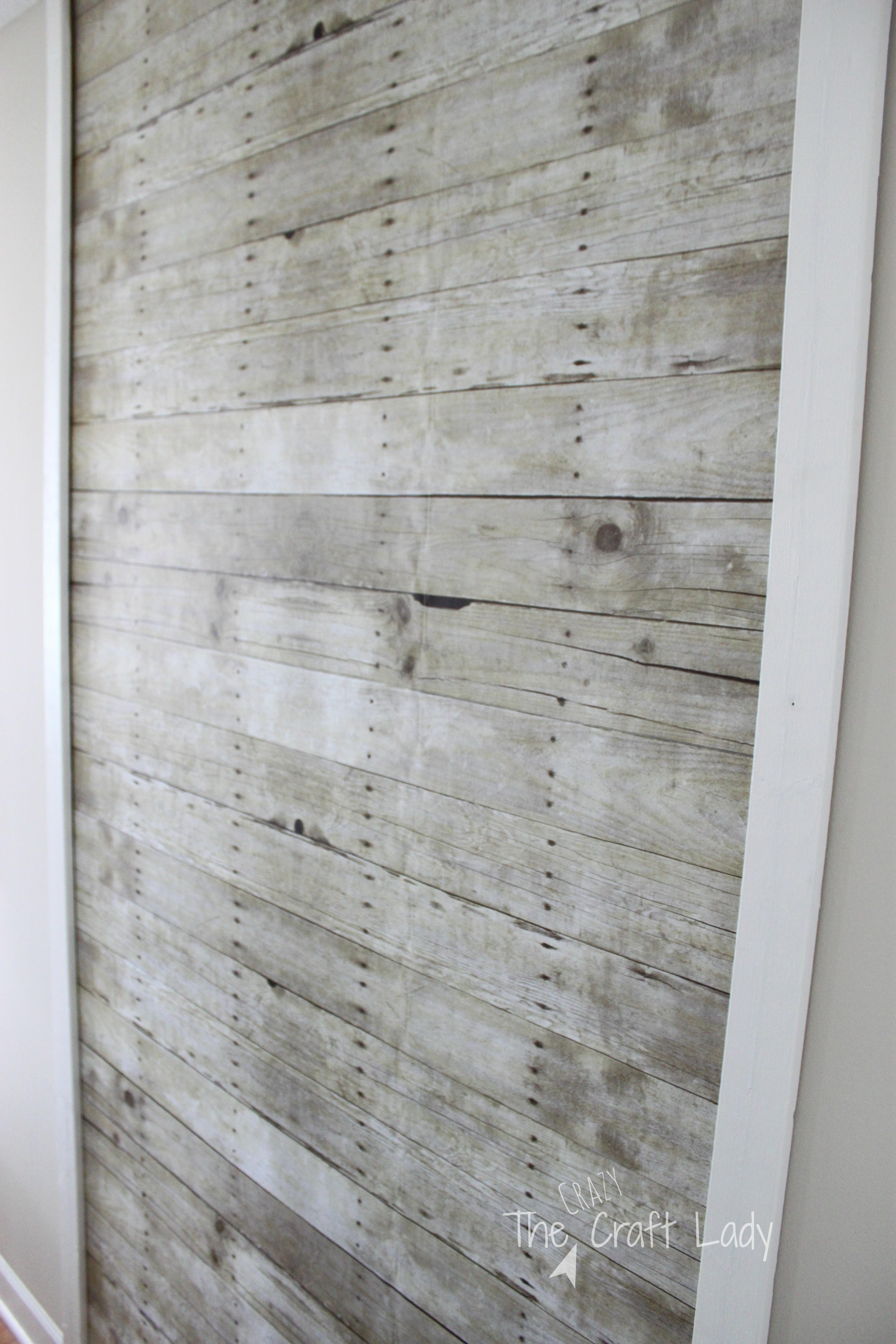 Paint Faux Wood Plank Wall Ever