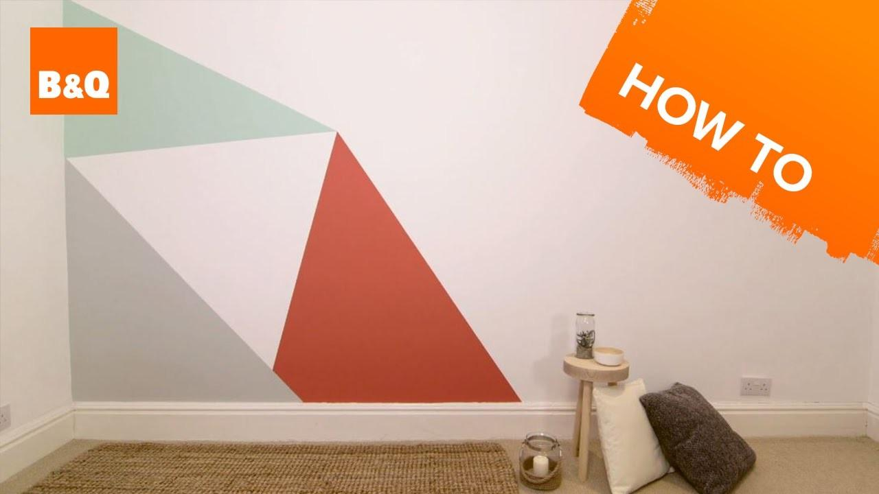 Paint Geometric Triangle Feature Wall
