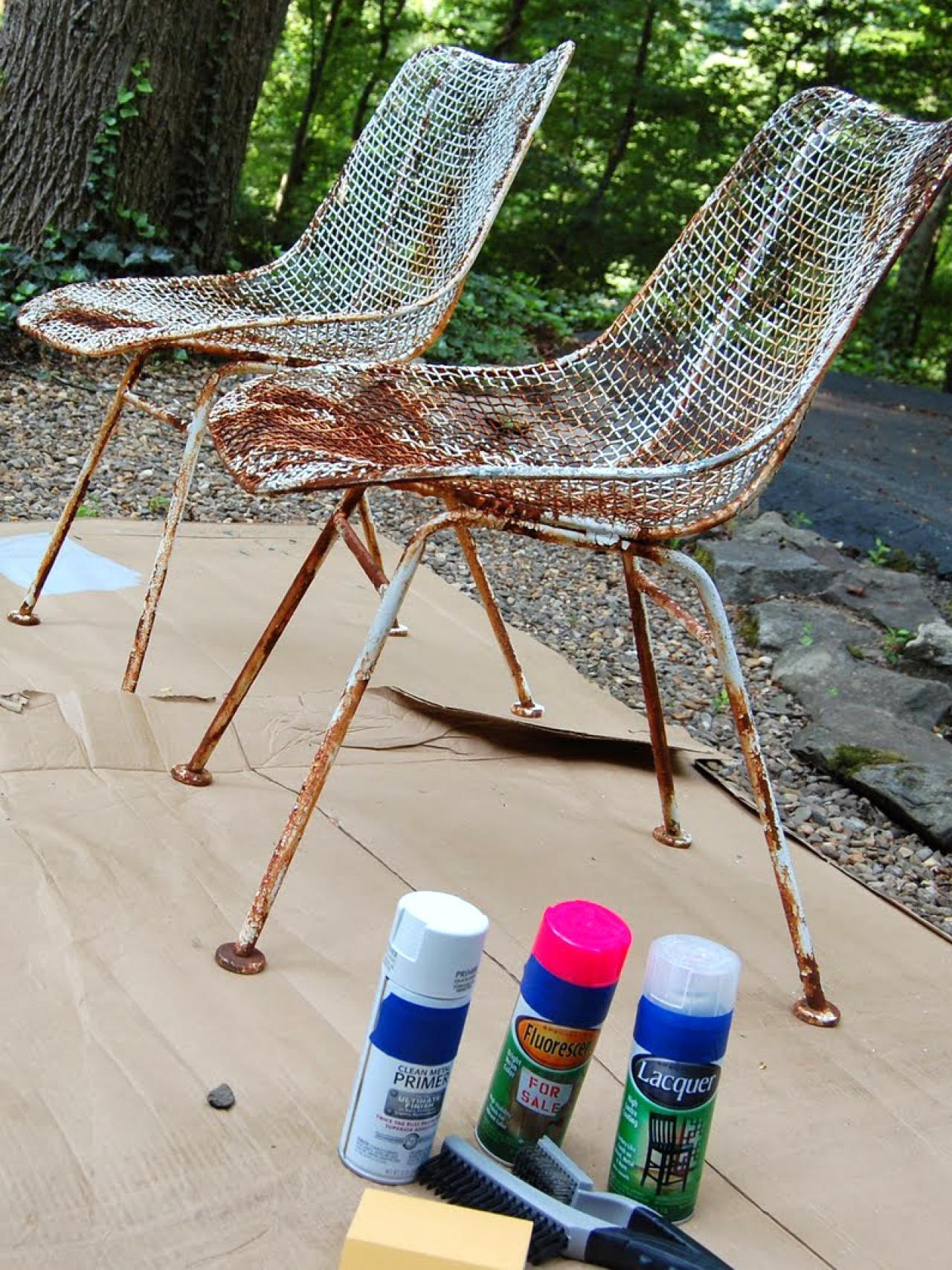 Paint Metal Chairs Tos Diy