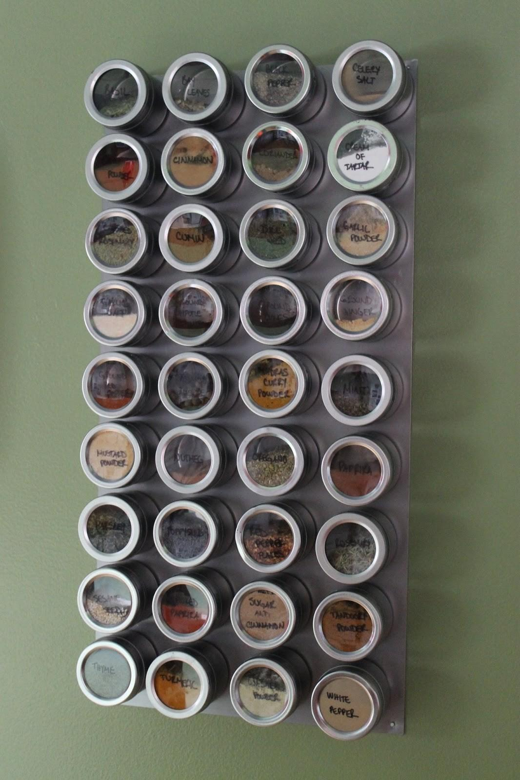 Paint Speckled Pawprints Magnetic Spice Rack