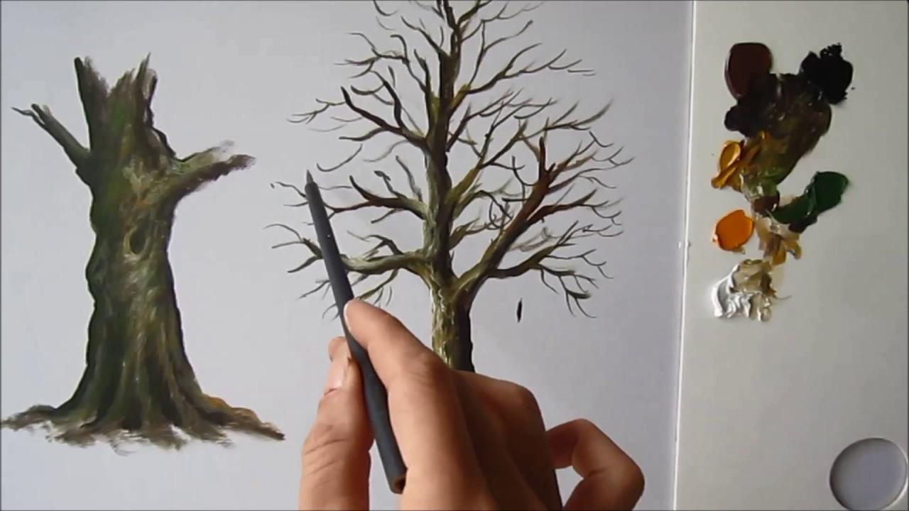 Paint Tree Trunk Lesson