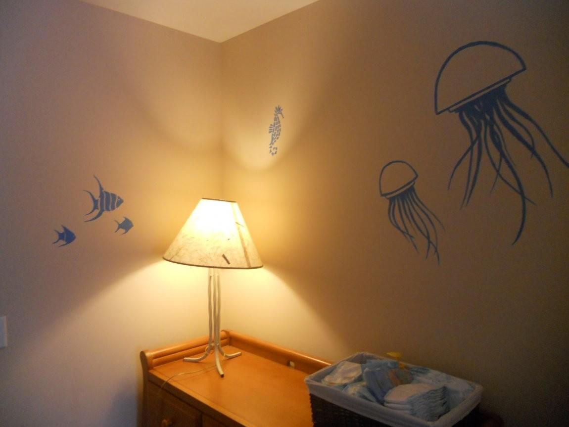 Paint Wall Look Like Water Beach Themed Living