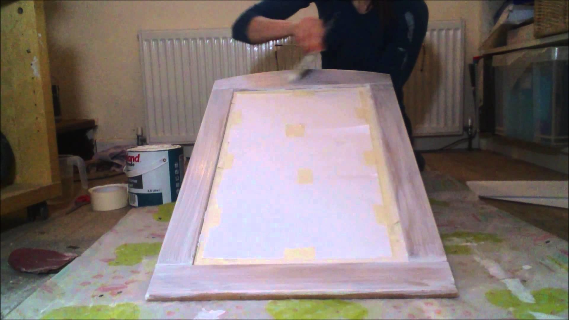 Paint Wooden Mirror Shabby Chic Style