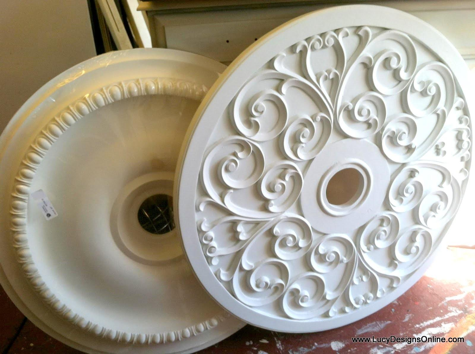 Painted Ceiling Medallions Easy Diy Bronze Finish