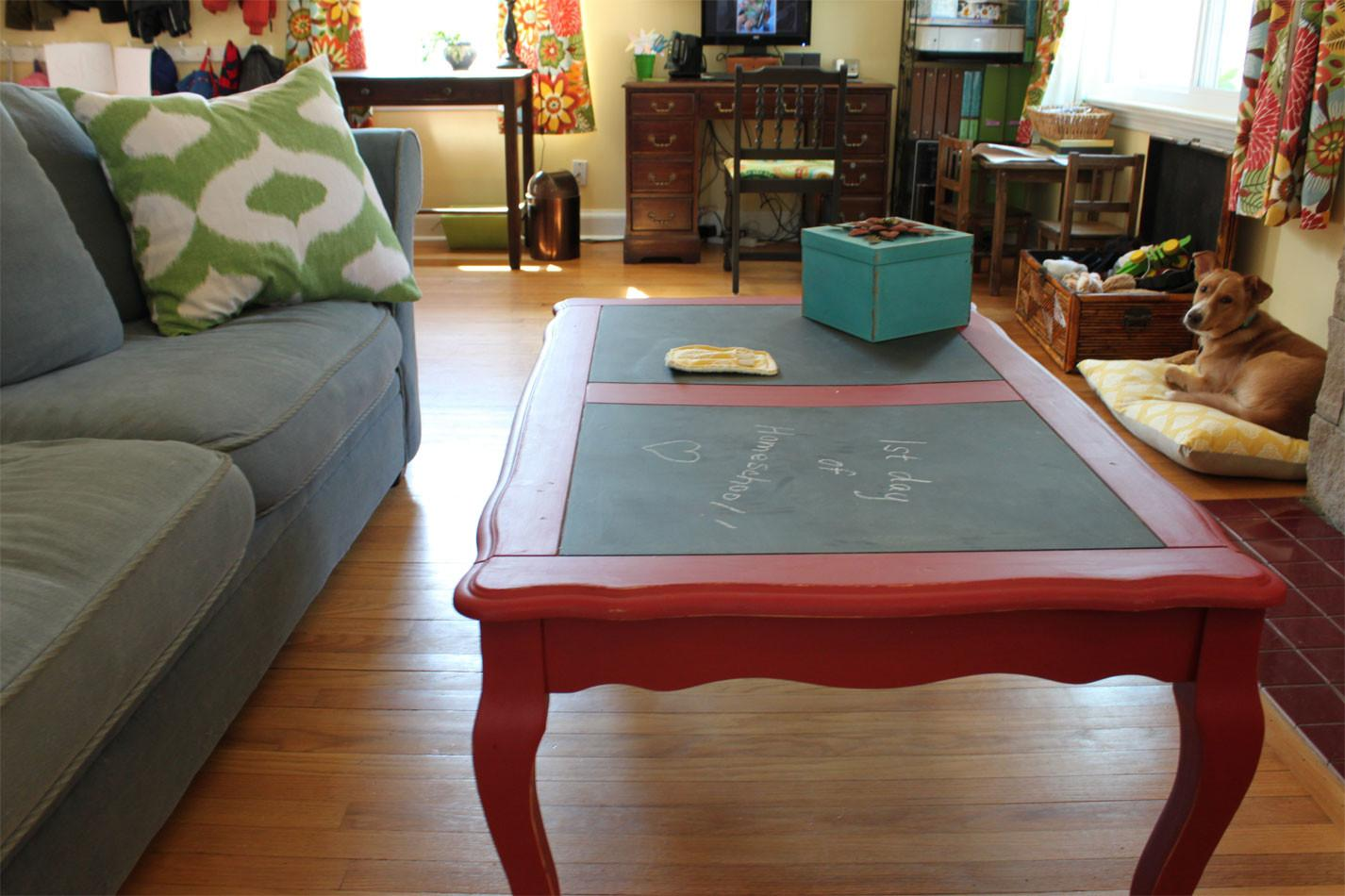 Painted Coffee Tables Red Jessica Color Simple Yet