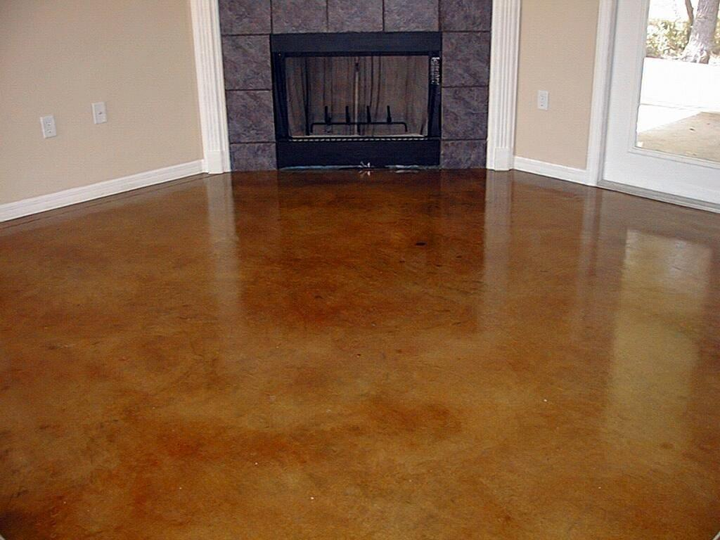 Painted Concrete Floors Double Paint