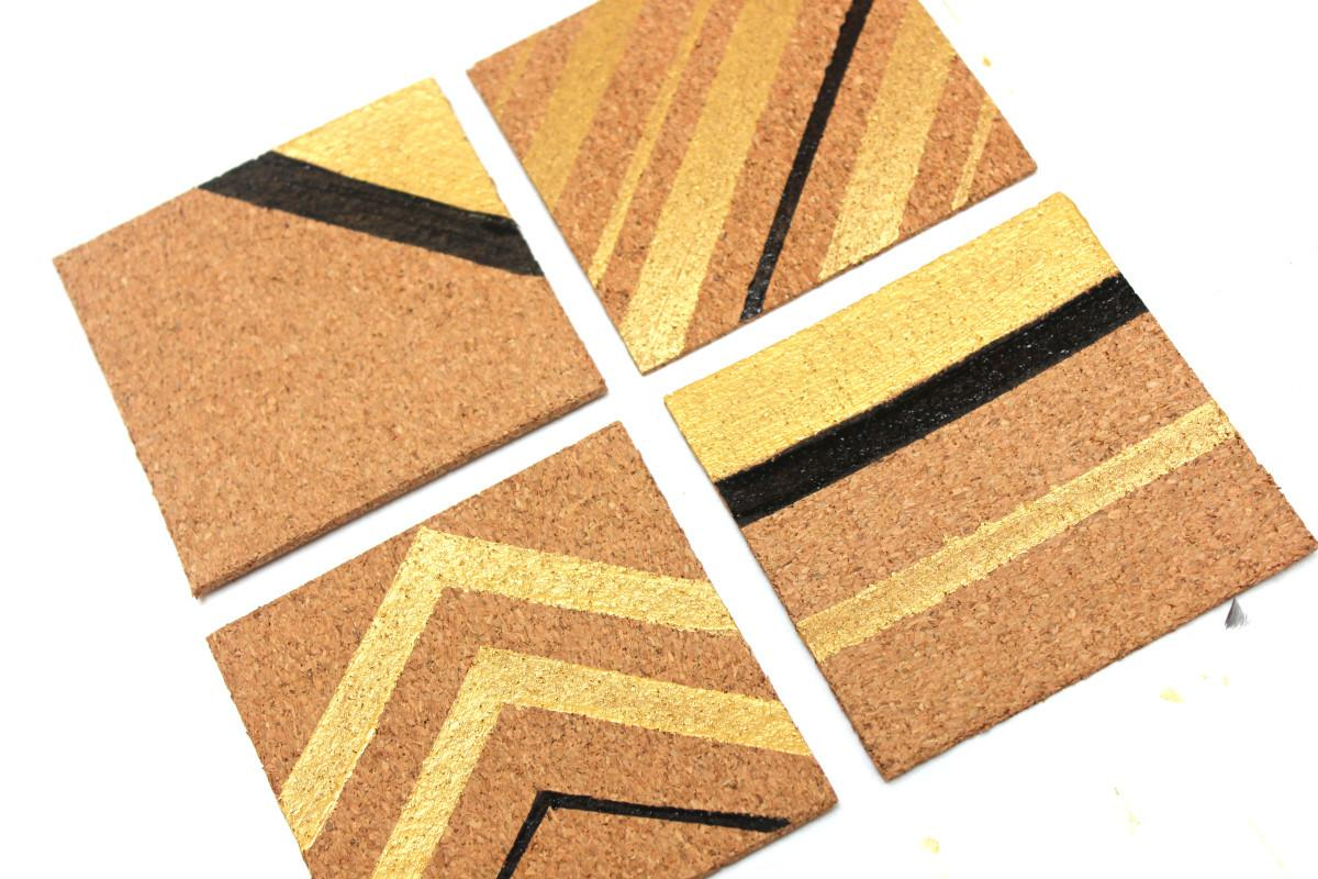 Painted Cork Coasters Decorate Pretty