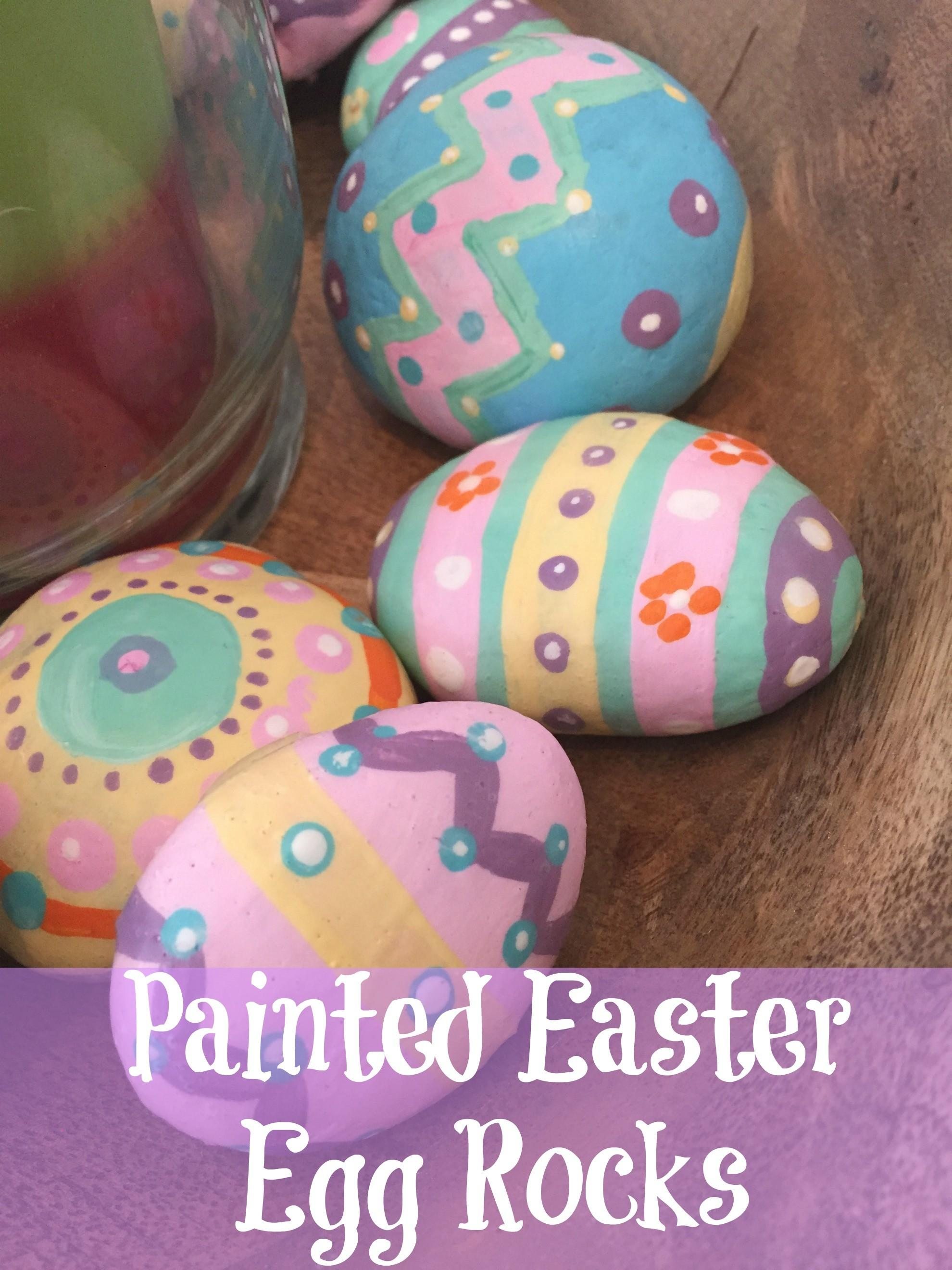 Painted Easter Egg Rocks Daisy Daydreams