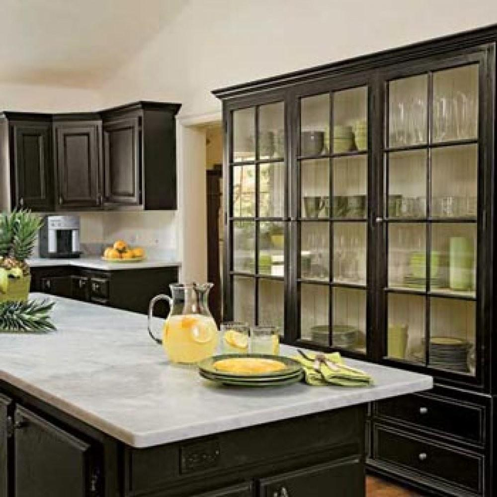 Painted Kitchen Cabinets Black Look