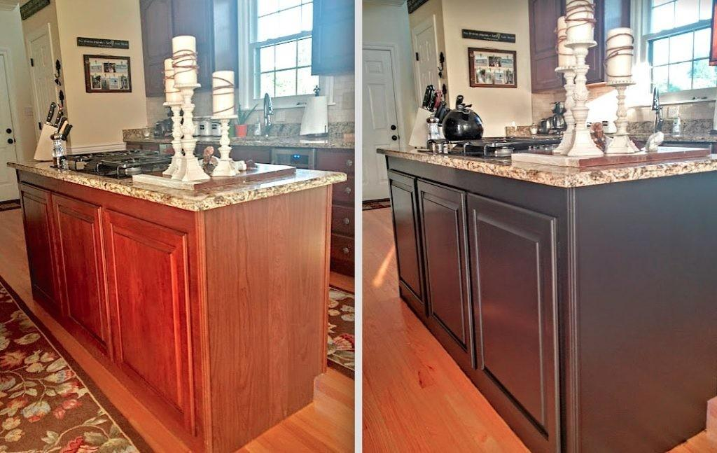 Painted Kitchen Cabinets Makeover Before After
