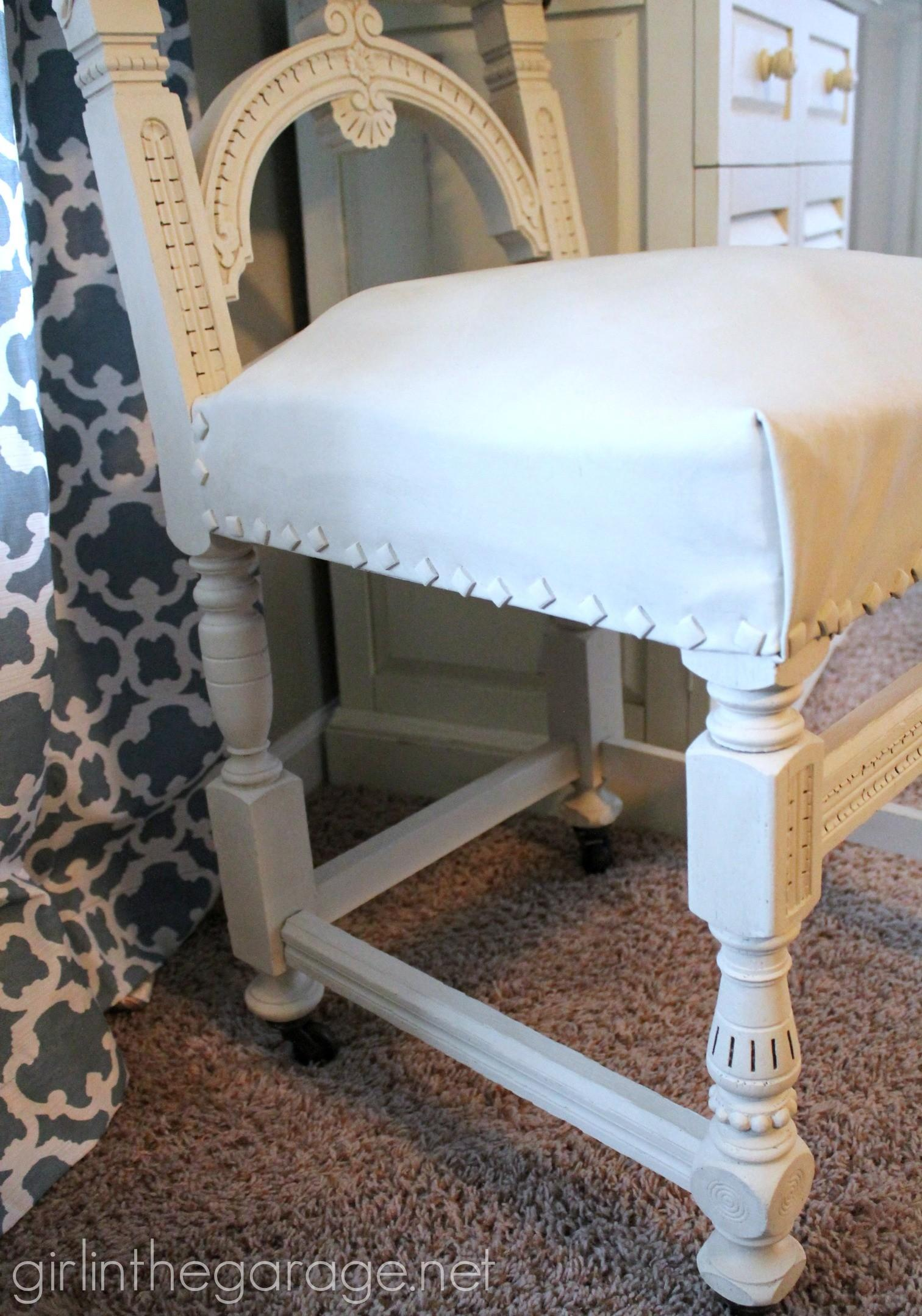 Painted Leather Chair Makeover Annie Sloan Chalk