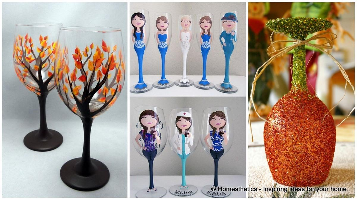 Painted Wine Glass Ideas Try Season