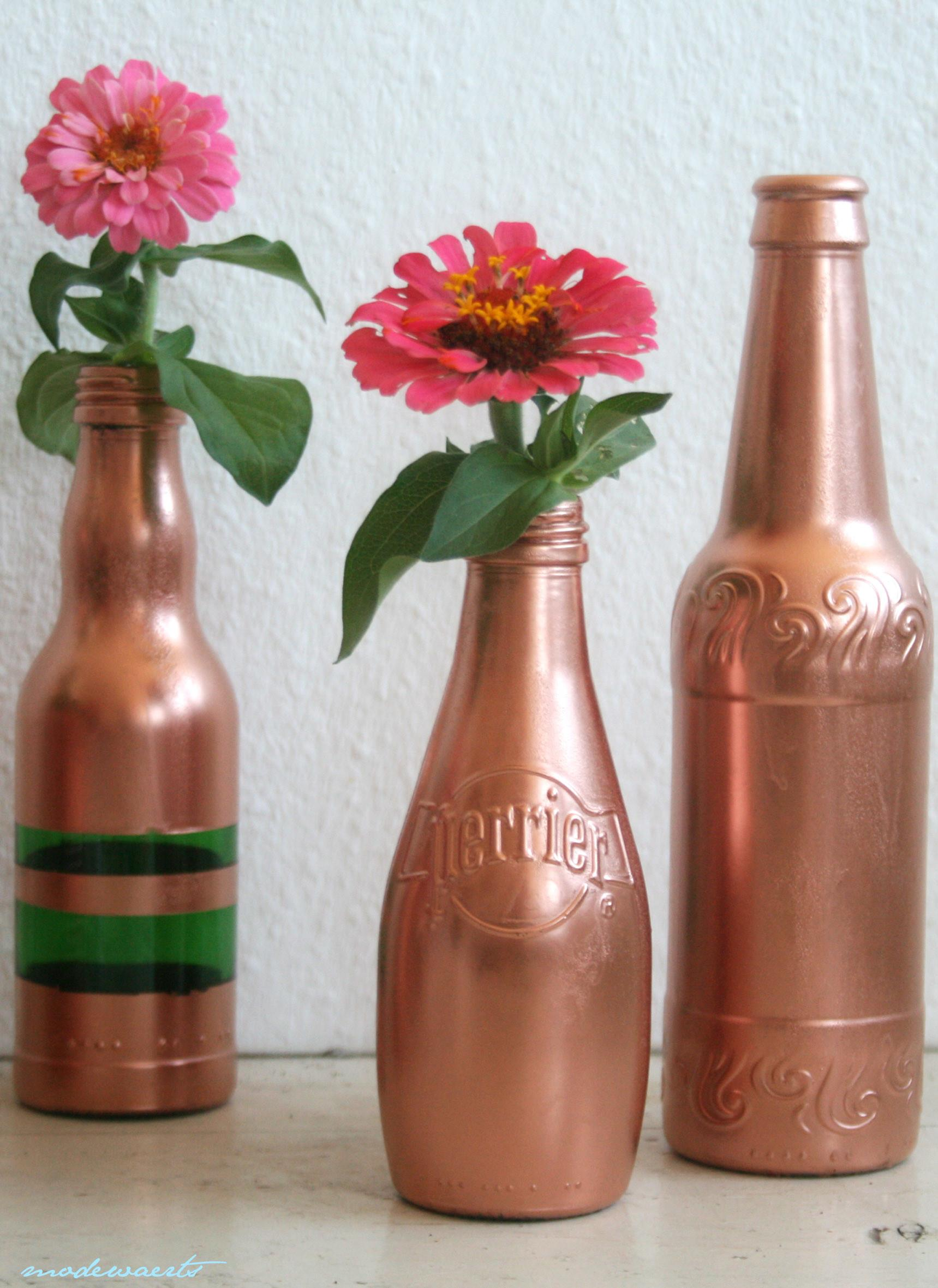 Painting Brick Spray Bottles Metallic Painted