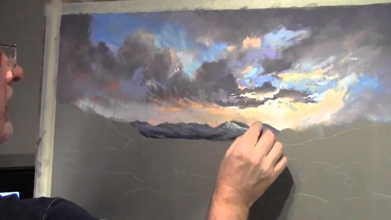 Painting Clouds Pastel