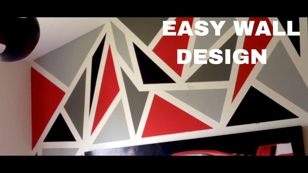 Painting Diy Geometric Wall Design Easy