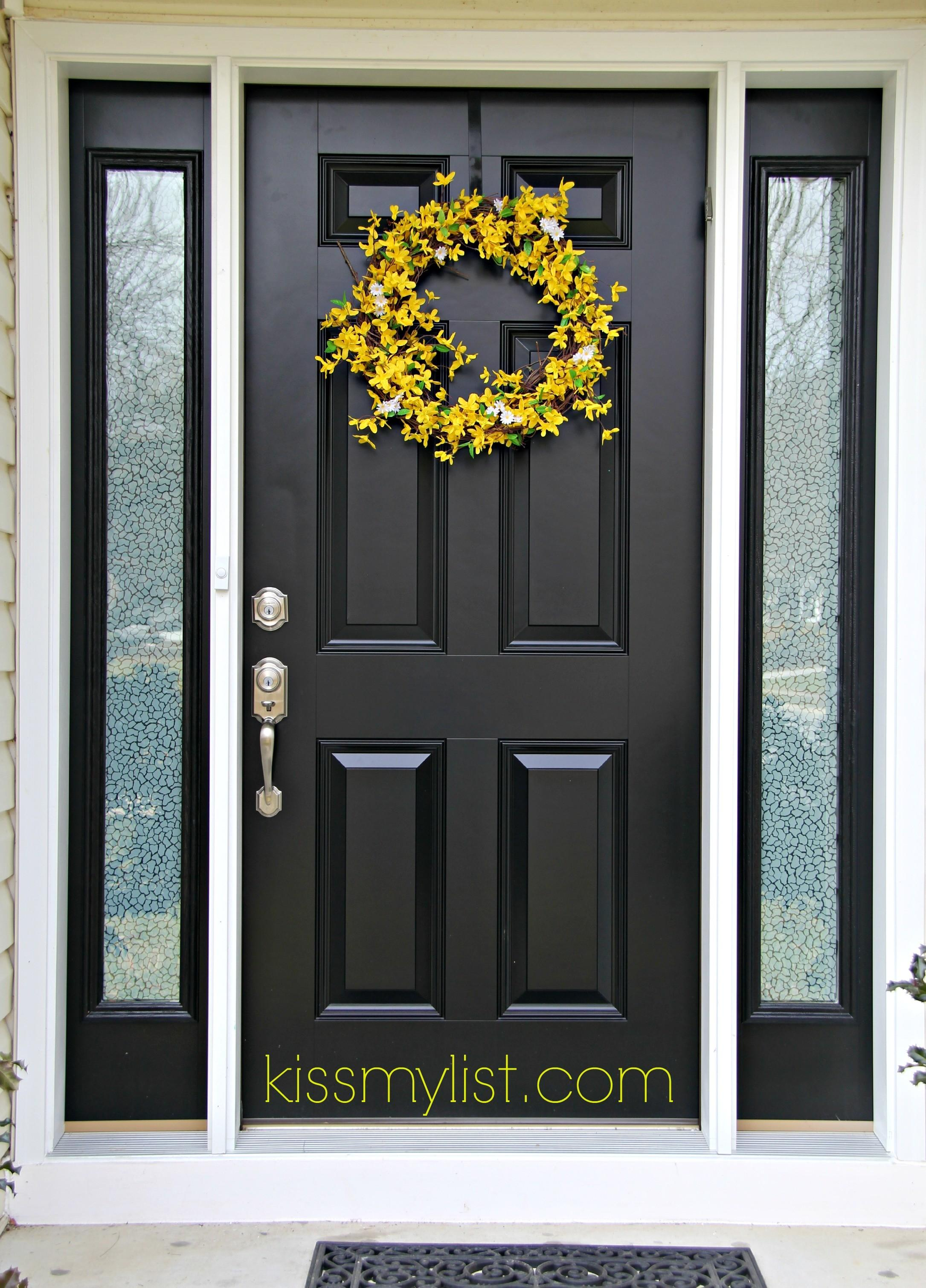 Painting Front Door Another Diy Fail Kiss List