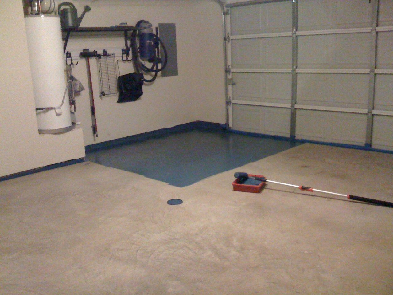 Painting Garage Floor Cheap Makeover