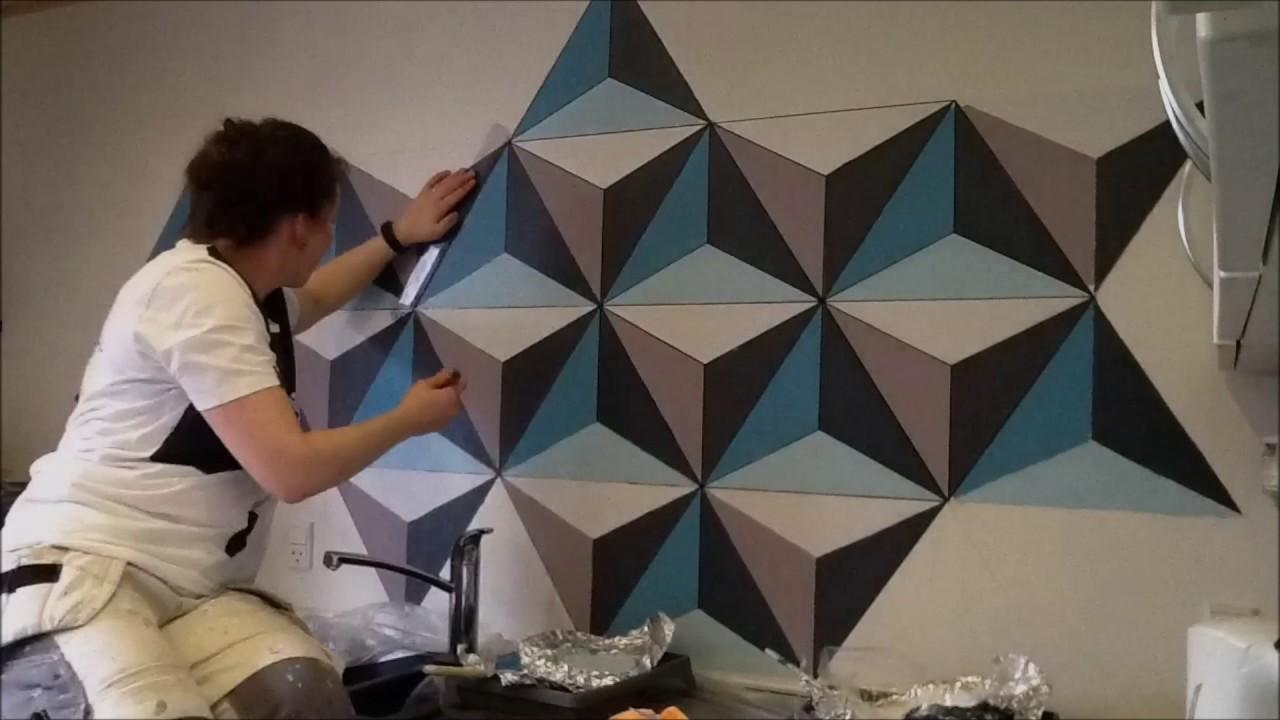 Painting Geometric Wall Remember Crafts