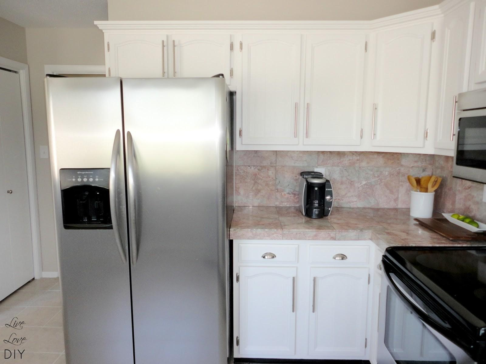 Painting Oak Kitchen Cabinets Before After White