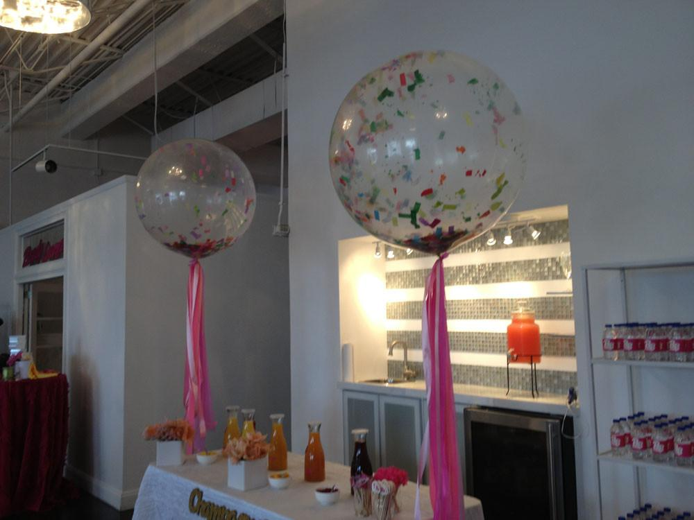 Pair Confetti Balloon Bridal Shower Wedding