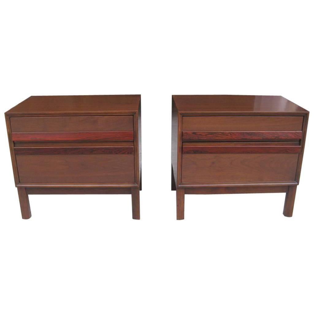 Pair Mid Century Modern Bedside End Tables Sale