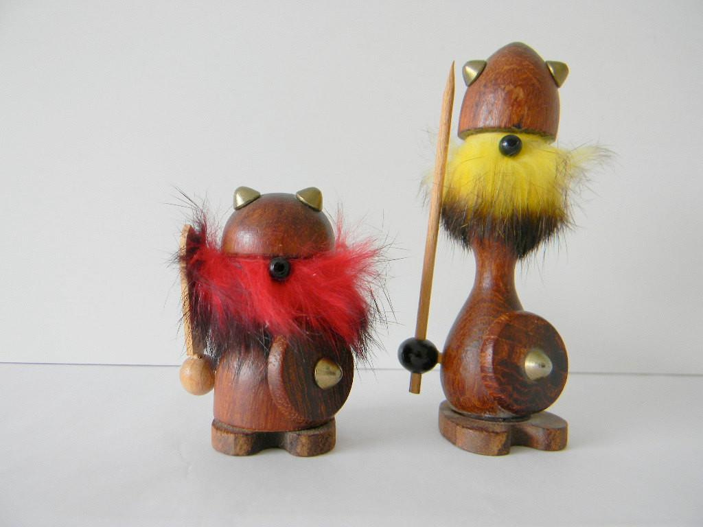 Pair Two Hans Bolling Danish Modern Wood Vikings