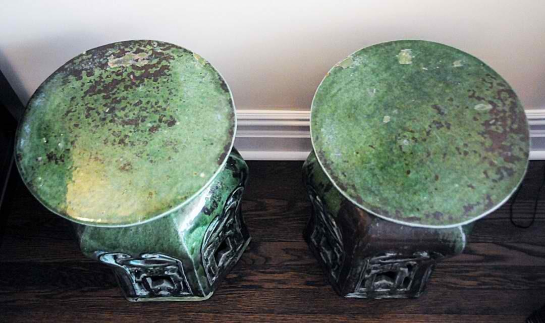 Pair Vintage Chinese Garden Stool Home Decorations Insight