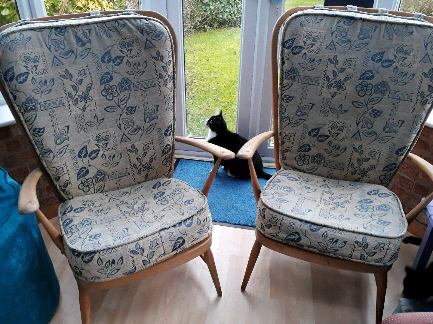 Pair Vintage Ercol Chairs Renovation Project