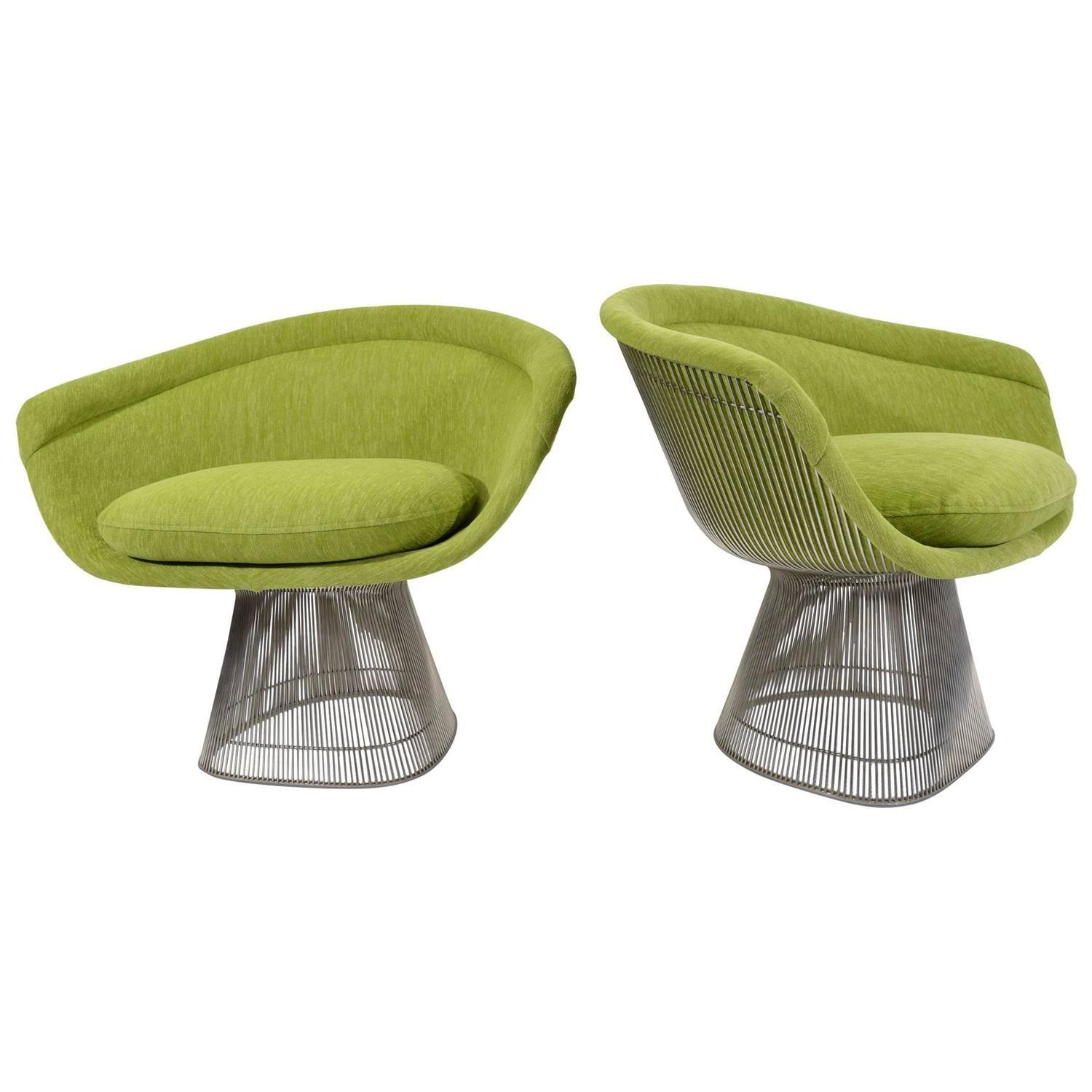 Pair Warren Platner Lounge Chairs Holly Hunt Great